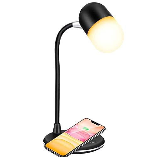 Lámpara Escritorio LED Powcan Flexo Escritorio 10W Regulable (Cuidado a Ojos, 5 Modos, Puerto USB 5V/ 1A Función Memoria Control Táctil Ángulo Ajustable Bajo Consumo Energía)