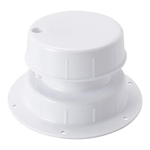 Leisure Coachworks RV Plumbing Vent Cap, Sewer Vent Cap, Plastic Roof Cover for Trailer Camper 1 to 2 3/8 Inch- White