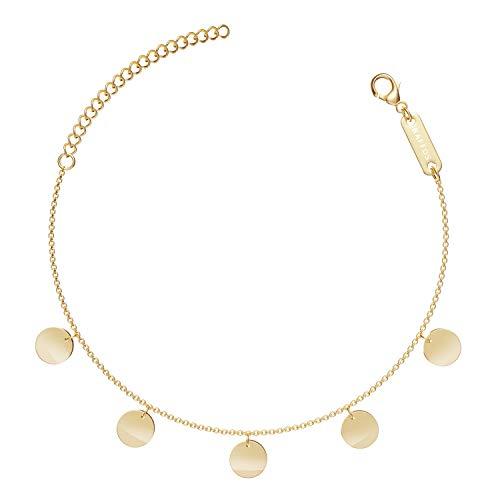 BAFFOS® Armband für Frauen - Plättchen Kette aus widerstandsfähigem Edelstahl in Farbe Rose-Gold - Damen Schmuck Armkette + Armreif Geschenk für Freundin oder Hochzeitstag