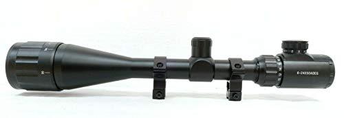 6–24x 50AO Luftgewehr-Zielfernrohr; Verstellbares Objektiv, Leuchtabsehenes Fadenkreuz-Fernrohr und Halterungen, 6-24x50 AO Illuminated Riflescope With 9.5 - 11mm Dovetail Mounts