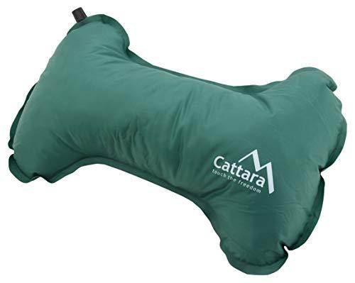 Cattara 13318 - Selbstaufblasendes Kissen Bone 40x25x13cm grün