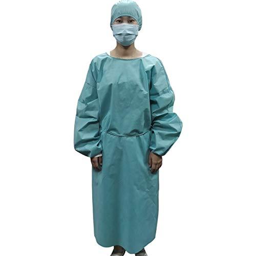 Sidiou Group Tuta Integrale Lavora Un Pezzo Abiti da Lavoro Uomo Donna Abbigliamento da Lavoro con Zip Frontale Vestiti da Lavoro (SMS 45g Blu con Cappello, Taglia Unica)