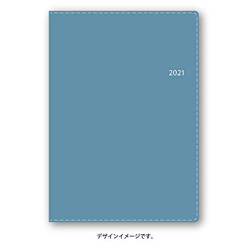 能率 NOLTY 手帳 2021年 A6 バーチカル キャレル 2 ライトブルー 2027 (2020年 12月始まり)