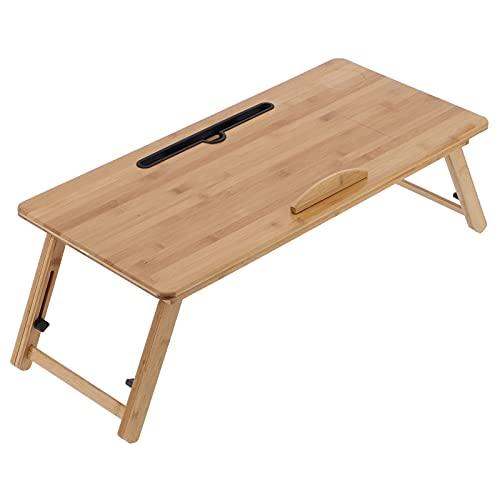 Ejoyous Tavolo per Laptop, Tavolo per Laptop Pieghevole Tavolo per Laptop Letto per Studio Scrivania per Laptop Tavolo per Vassoio per la casa