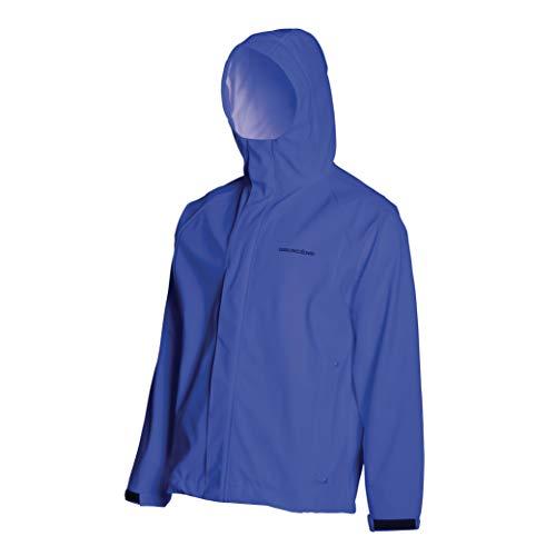 Grundens Men's Neptune Commercial Fishing Jacket | Waterproof, Adjustable, Ocean Blue, Large