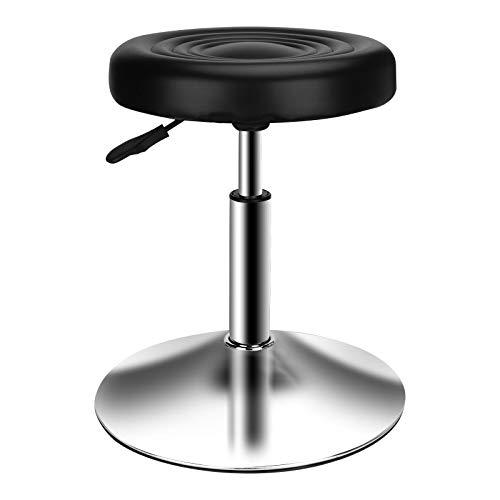 QiCheng&LYS Taburete giratorio de cuero PU, altura ajustable 40-53 cm, taburete de trabajo Taburete de masaje suave Adecuado para escritorio de bar de oficina, pintura