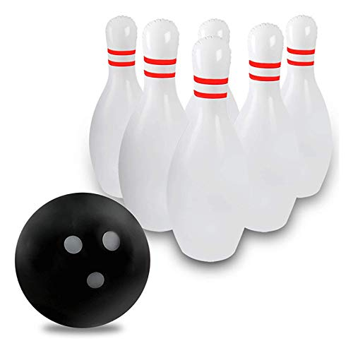 WT-YOGUET Novelty Place riesiges aufblasbares Bowling-Set für Kinder, Outdoor, Rasen, Hof, Spielball