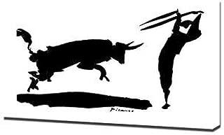 Lilarama Pablo Picasso - Bullfight 3 Framed Canvas Art Print Reproduction