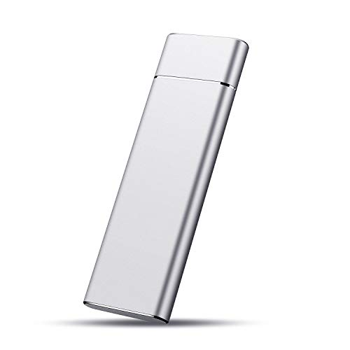 External Hard Drive 1TB, Type C USB3.1 External Hard Drive Ultra Slim HDD Storage for PC, Xbox And Android (1TB, SILVER)