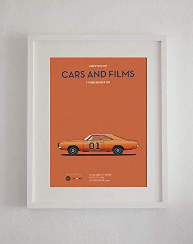 Coberusgift Sale The Dukes of Hazzard Tv Series Car Present for Lovers Poster [No ] Poster Home Art Wall Posters Poster No Framed IGSW (12'x18')