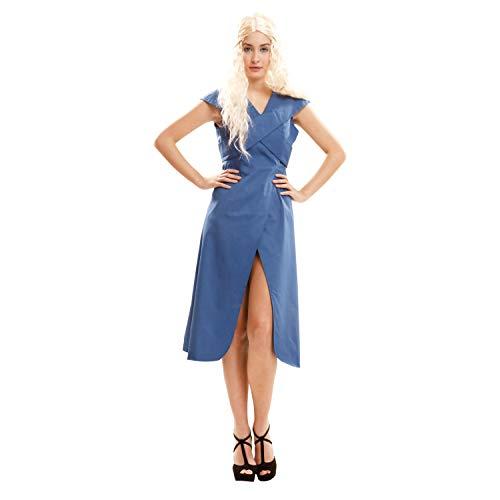My Other Me dameskostuum koningin draak, S, blauw (viving Costumes 202723)