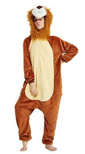 Silver Basic Nios Unicornio Pijamas Cosplay Unicorn Disfraces Animales Franela Monos Unisex-Adulto Ropa de Dormir Disfraces de Fiesta Mujer Kigurumi (L/Altura: 168-177cm, Rey Leon)