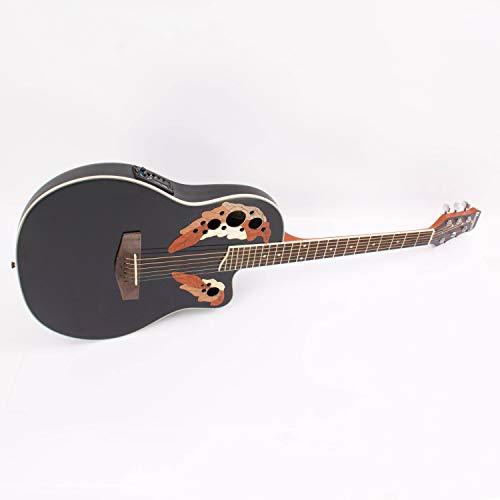 Guitarra Western ROUNDBACK con pastillas piezoeléctricas, negra - Guitarra country / Guitarra para avanzados - klangbeisser
