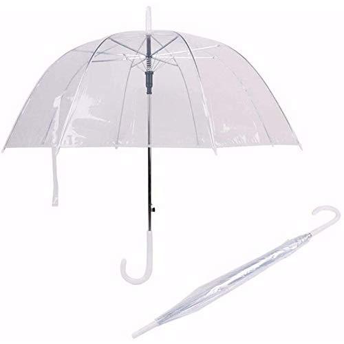 Tymuev Paraguas Transparente de Mango Largo Mujer Vestido de Novia semiautomático Creativo...