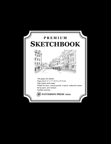 Premium Black Sketchbook: Large Notebook for Drawing, Writing, Painting,...