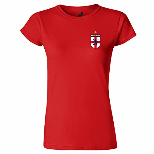 Camiseta para mujer con diseño de escudo de fútbol de Inglaterra