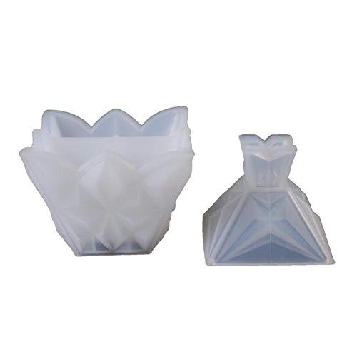 Suppemie siliconen zeep sieradenkistje van epoxyhars knutselen voor knutselen handwerk huis opbergdoos diamant juwelenkistje 8,5 x 7 x 4 cm