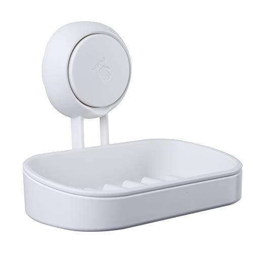 Uten Seifenschale Dusche Seifenablage Ohne Bohren Seifenhalter Saugnapf Duschablage Wiederverwendbar für Bad, Küche, 14 x 8.5 cm