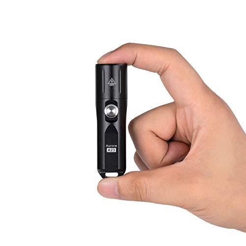 RovyVon Linterna LED superbrillante, linterna de mano, llavero recargable EDC con pilas...