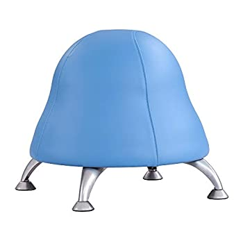 Safco Products Runtz Kid s Stability Exercise Ball Chair 17  H or 13.5  H Blue Vinyl