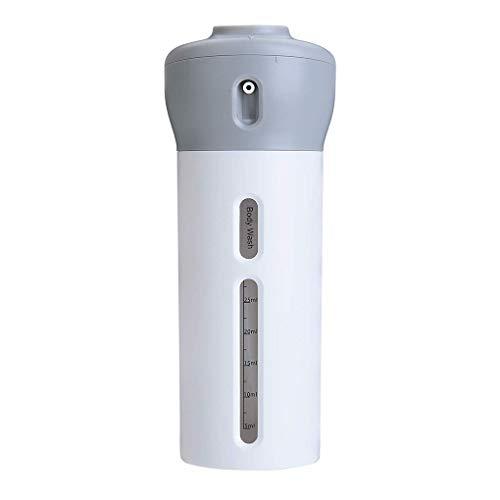 YJS 4 in 1 Lege Subfles Drukknopen Drukknopen Douchegel Lekvrije Navulbare Containers Shampoo Douchegel Lotion Dispenser Roze Wit, 67*67*170mm, 2