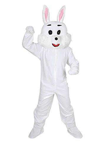 Hase weiss Einheitsgrösse XXL Kostüm für Fasching Karneval Ostern