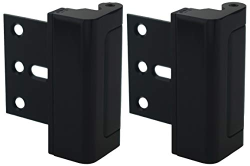 Door Lock for Home Security (2-Pack) - Easy to Install Door Latch Device, Aluminum Construction, Satin Nickel Door Locks for Door Security | Child Proof & Tamper Resistant, Black Door Locks