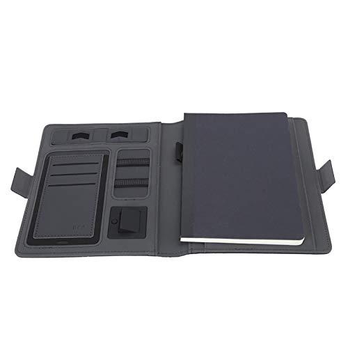 Schwarzes kabelloses Ladegerät Verwenden Sie häufig den tragbaren doppelseitigen Notizblock zum kabellosen Laden zum Aufladen des Telefons