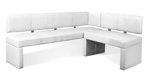 SAM Eckbank 170x217,5 cm, Laselena, weiß, Sitzbank Links und rechts aufbaubar