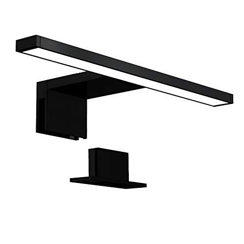 B.K.Licht Luce da specchio LED, 5W, luce bianca neutra 4000K, larghezza 30 cm, lampada per bagno, luce per trucco, illuminazione armadietto, 230V IP44