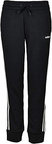 adidas Neo Women Essentials 3-Stripes Sports French Terry Climalite Jogger (Black/White Stripe, Large)