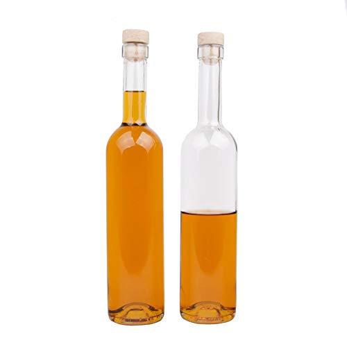 casavetro 6, 12 Botellas de Cristal Futura de 500 ml, Botellas para Rellenar, Botellas de Licor, Botellas de vinagre o Aceite (12 x 500 ml)