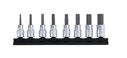コーケン Z-EAL 3/8(9.5mm)SQ. ヘックスビットソケットレールセット 全長50mm 8ヶ組 RS3010MZ/8-L50