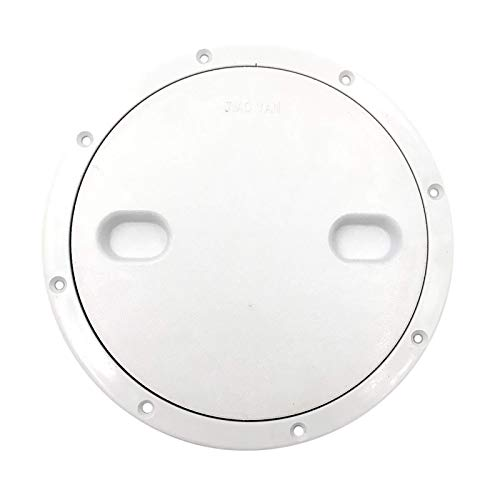 Qinmo Marine Accessories for Boats,Marine Accessories Marine Boat RV White 10.49' Access Hatch Cover Screw Out Deck Plate Marine Hardware