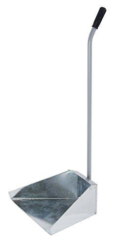 VERDELOOK Alzaimmondizia in Zinco Alto 70 cm con Impugnatura in Gomma, Paletta Larga 33 cm