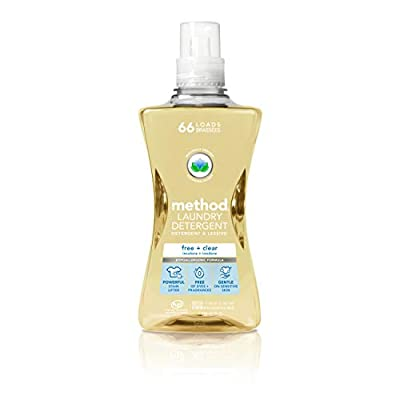 Method 4x Concentrated Laundry Detergent, Free + Clear, 53.5 Ounce, 66 Loads