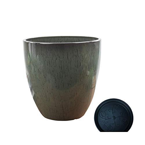 GAXQFEI Vaso da fiori carnoso in resina Vasi per piantare piante verdi retrò Diametro grande Piante non ceramiche creative Seminatrice Combinazione di paesaggi micro Contenitore decorativo Interno ed
