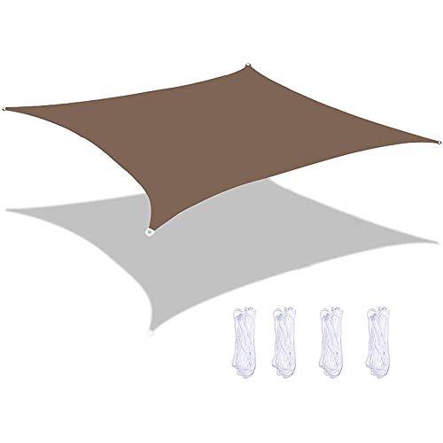 DFGH Vela de Sombra, Resistente a la Intemperie Protección Solar, PES Poliéster, 93% BloqueUV para Patio Exteriores Jardín