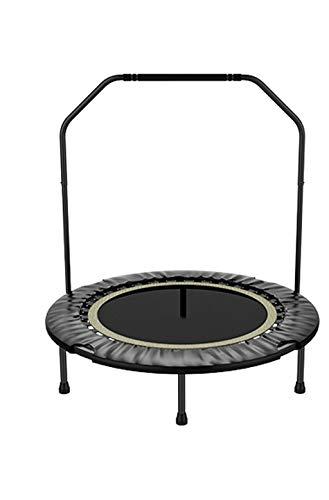 ZHAOJBC Indoor trampoline, geluidsarm, vouwbaar, fitness trampoline, met handgreep, fitness voor volwassenen voor kinderen, kan 200 kg weerstaan, 40 inch