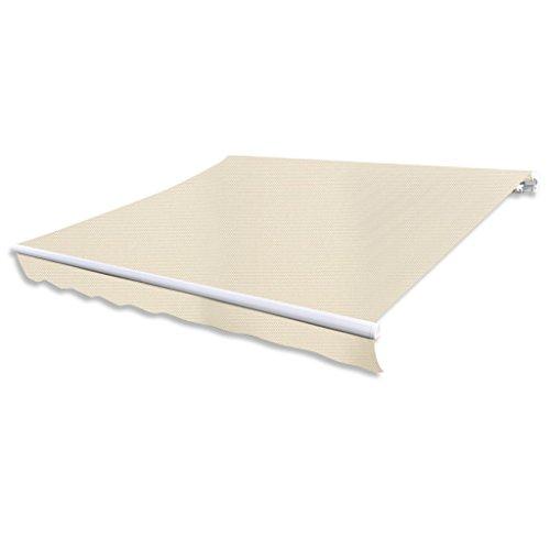 Festnight Store banne en toile Blanc crème 3 x 2,5 m (Cadre non inclus)