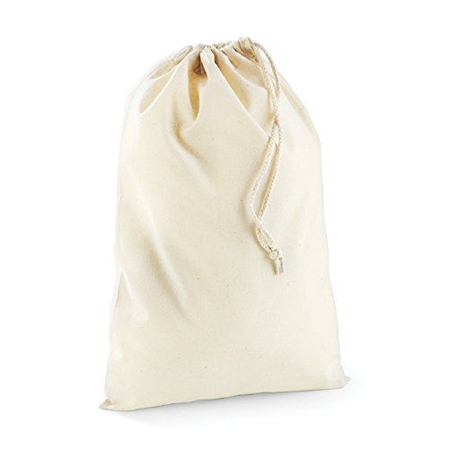 Westford Mill Cotton stuff bag in Natur XS 20x14cm