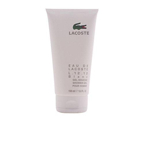 Lacoste Eau de L.12.12 Blanc men, Shower Gel Pour Homme, 1er Pack (1 x 150 ml)
