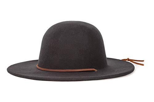 Brixton Men's Tiller Wide Brim Felt Fedora Hat, black, X-Large