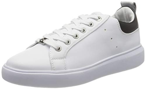 TOM TAILOR Damen 8090602 Sneaker, Mehrfarbig (White-Black 00255), 42 EU