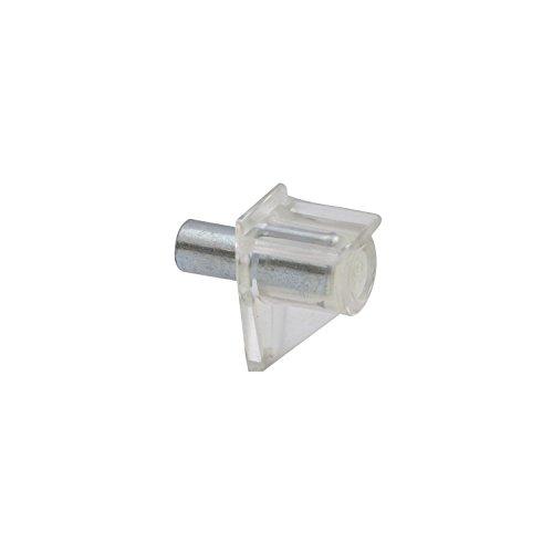 SECOTEC Bodenträger Safety | Bohr ø 5mm | Kunststoff glasklar | Plattenträger zum Stecken| 80 Stück