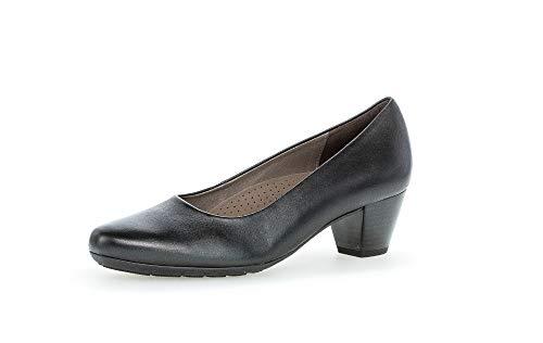 Gabor Damen Pumps, Frauen Klassische Pumps,Comfort-Mehrweite, Court-Shoes Absatzschuhe Abendschuhe stöckelschuhe weiblich,schwarz,42 EU / 8 UK