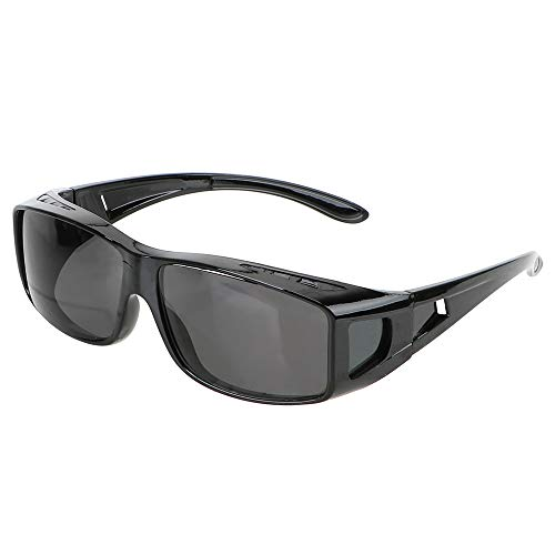 HD-nachtzichtbril bestuurdersbril zonnebril autorijbril past over je corrigerende brillen grijs