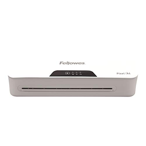 Fellowes Pixel A4 Home Office Laminator, 125 Micron, Including 10 Free Pouches - Jam Free