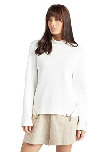 khujo Damen Sweatshirt Malina Baumwolle Stehkragen Reißverschlüsse Regular Fit