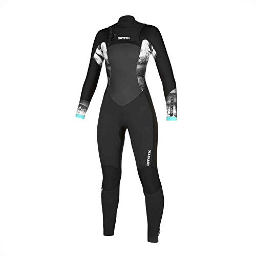 Mystic Watersports - Surf KiteSurf & Windsurfing Dames Diva 4/3 Double Chest Zip Wetsuit - Thermal Warm Heat Layer Layers